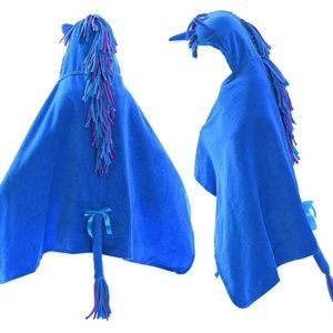 Other - Blue Unicorn Hooded Towel for Boys